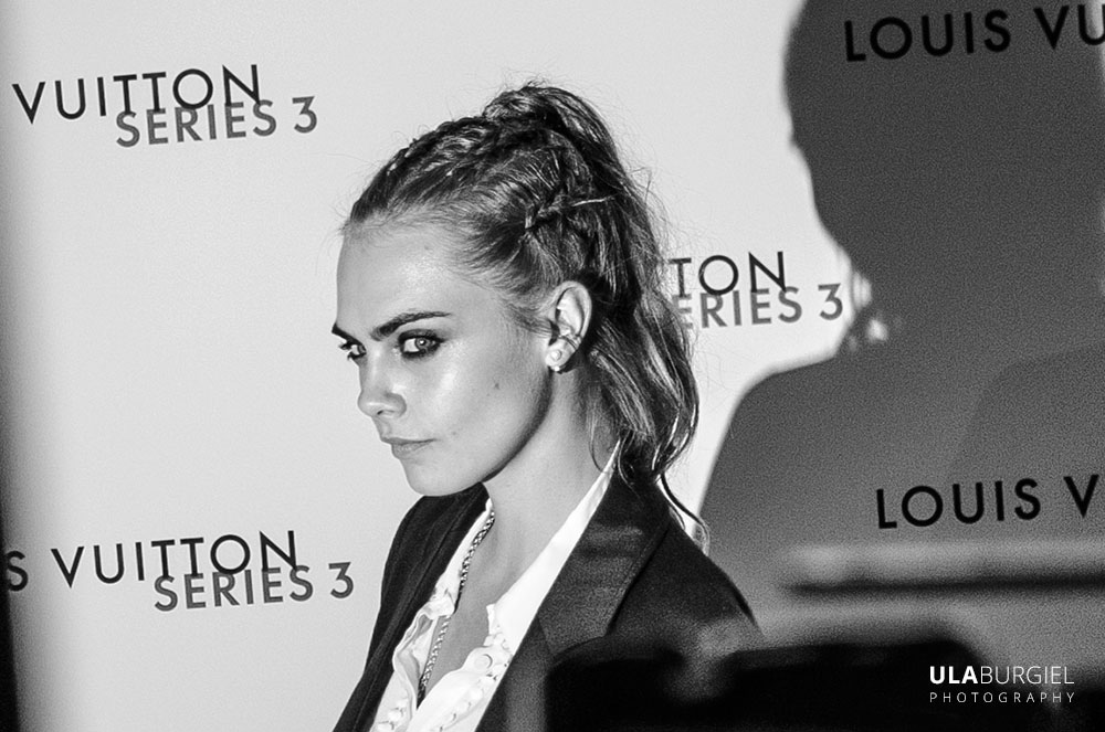 Ula Burgiel photography London Fashion Week, Cara Delevingne, louis vuitton series 3