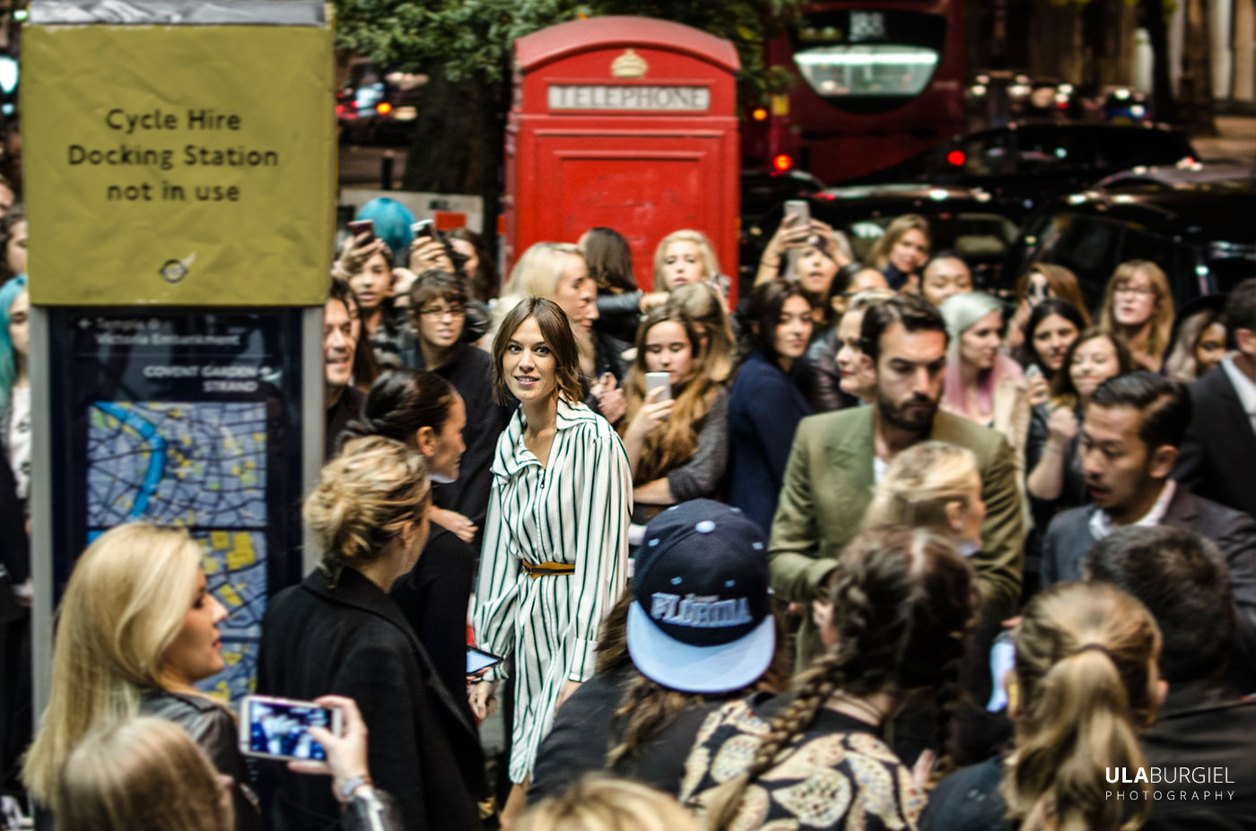 Ula Burgiel photography London Fashion Week, Cara Delevingne, louis vuitton series 3 Alexa Chung Celebrity photography